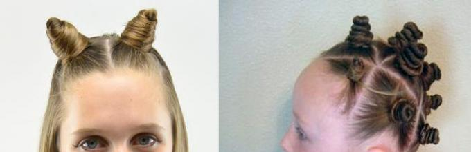 Прическа два пучка: как сделать по бокам как у Марии Вэй и ... | 220x680